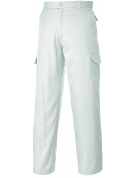 Portwest Combat Trousers C701 - White Clothing