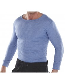 LONG SLEEVE THERMAL VEST BLUE - XL Sale