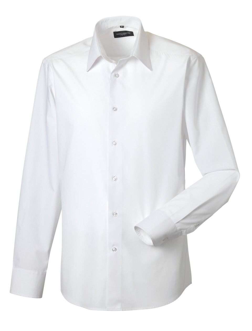 Russell Collection Men's Long Sleeve Polycotton Poplin Shirt Corporate Workwear