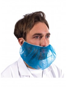 Disposable Beard Snoods Pack 100 Blue Clothing