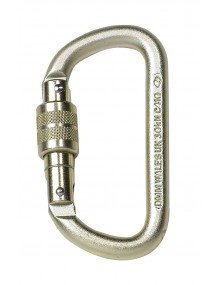 P+P 90110 Steel D Screwgate Karabiner Personal Protective Equipment