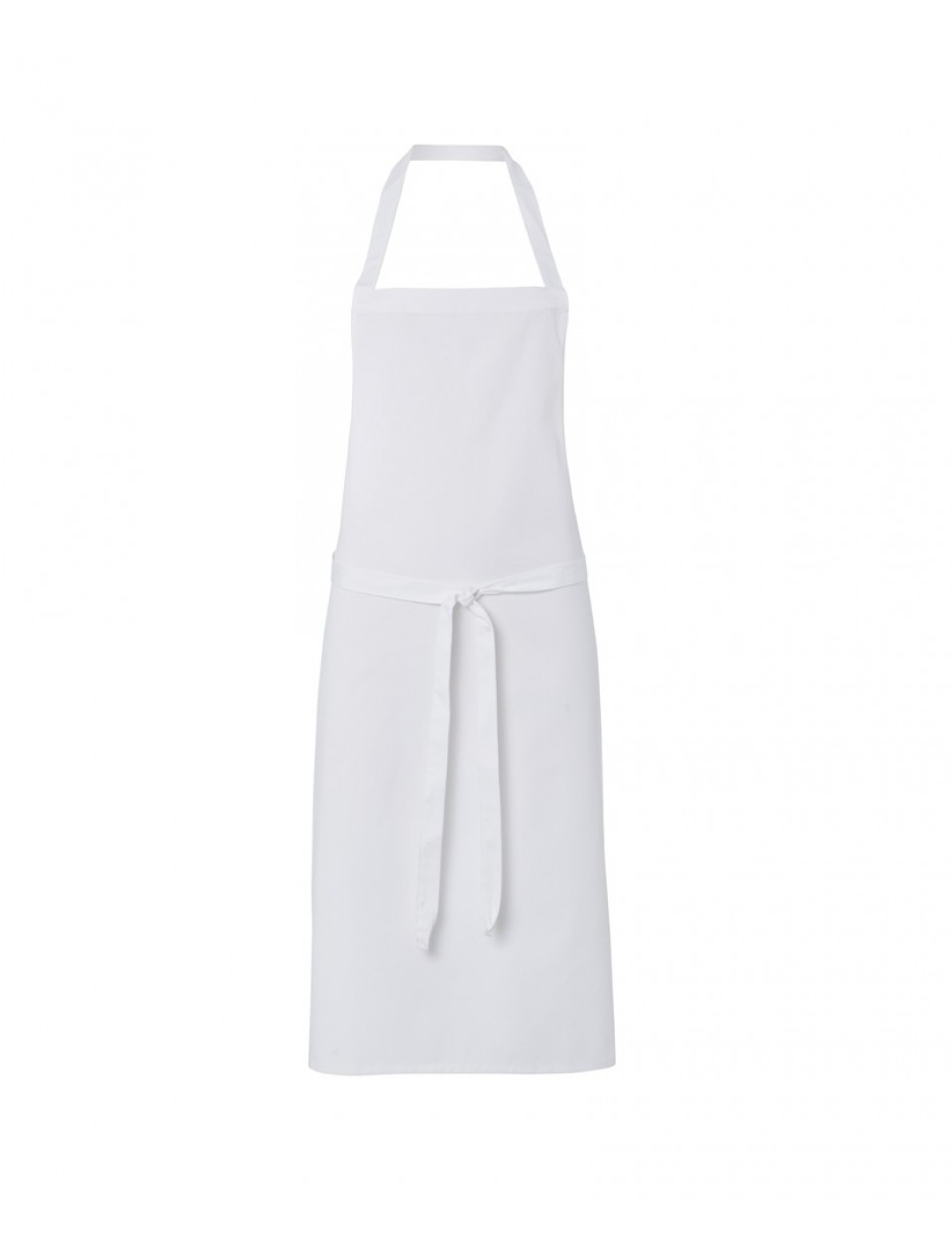 Apron Front : Alexandra NU691 White Bib Apron with Front Pocket - White Clothing