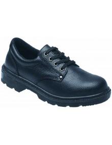 Toesavers Black Dual Density Pu Safety Shoes - 2414 Footwear