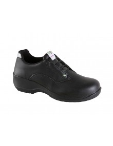 Toesavers Ladies Black Microfibre Lace Safety Shoe Safety Footwear