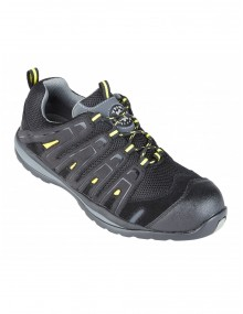 Falco Black & Yellow Metal Free Safety Trainer Shoes (4208) Footwear