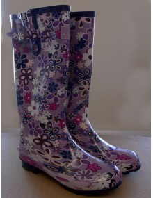 Ladies Lunar Non-Safety Wellingtons - Flower Pattern Footwear