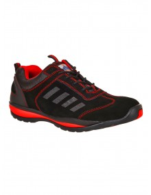 Lusum FW34 Safety Trainer - Black & Red Footwear