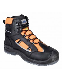 Portwest FC59 - Portwest Compositelite Retroglo Hi-Vis Boot S3 WR ESD - Orange Footwear