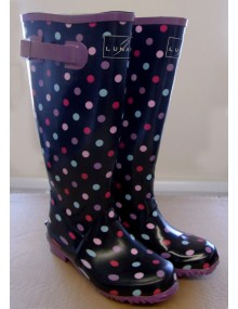 Ladies Lunar Non-Safety Wellingtons - Spot Pattern Footwear