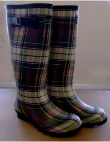 Ladies Lunar Non-Safety Wellingtons - Tartan Patern Footwear