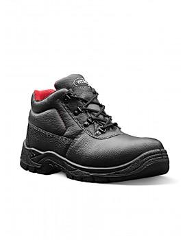 Elk VT471 Black Grained Leather Safety Boots Safety Footwear