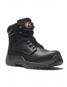 V12 Bison VR600.01Black Full-Grain  Boots Safety Footwear