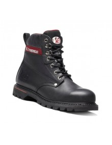 V12 Boulder V1235 Black Leather Boots Footwear