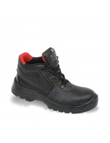 V12 Elk V6471 Black Grained Leather Safety Boots Safety Footwear