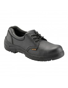 Worktough 201SM Black Leather Safety Shoes