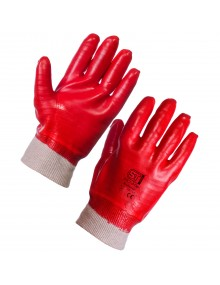 Supertouch PVC Fully Coated Knitwrist Glove  Mechanical Hazzard