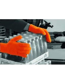 Orange PVC Criss Cross Gloves Gloves