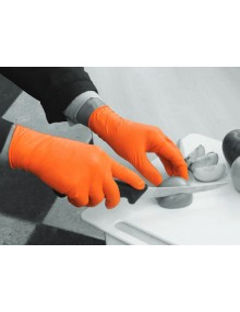 Polyco GL200 Finite Orange HD Disposable Gloves Gloves