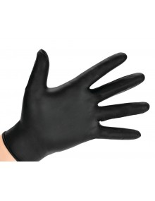 Polyco GL897 Black Nitrile Gloves - Case of 1000 Gloves
