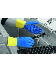 Duo Plus 60 Double Dipped Latex Gloves - Flock Lined, Pack 12 pairs Gloves
