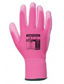 Portwest General Handling PU Gloves - Pink Gloves