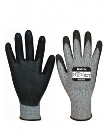 Polyco Matrix GH315 Cut 5 PU Cut 5 Palm Coated Gloves Cut Resistant