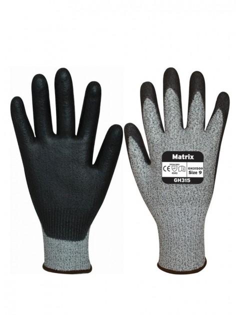 Polyco Matrix GH315 Cut 5 PU Cut 5 Palm Coated Gloves Cut Resistant