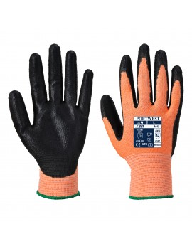 Portwest A643 - Amber Cut - Nitrile Foam Gloves Gloves