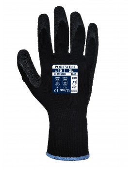 Portwest A140 - Thermal Grip Glove -Black  Latex Gloves