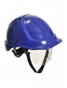 Portwest PW54 - Endurance Plus Visor Helmet - Blue Personal Protective Equipment