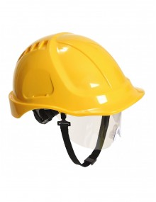Portwest PW54 - Endurance Plus Visor Helmet - Yellow Personal Protective Equipment