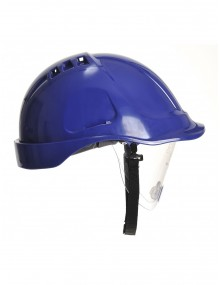 Portwest PW55 Retractable Visor Helmet - Blue Personal Protective Equipment