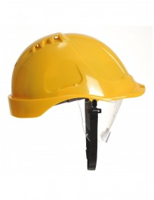 Portwest PW55 Retractable Visor Helmet  - Yellow