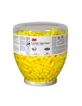 3M E.A.R Yellow Neon Soft Ear Plugs - Refill Bottle 500 Personal Protective Equipment