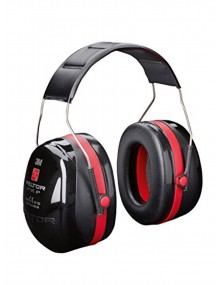 Peltor Optime III Black/Red Ear Defenders - H540A Personal Protective Equipment