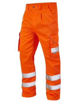 Leo Bideford Class 1 Orange Polycotton Cargo Trousers CT01-O High Visibility