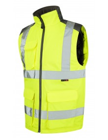 Leo Torrington Class 2 Bodywarmer BW01-Y High Visibility