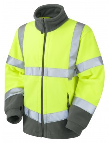 Leo HARTLAND - ISO 20471 Class 3 Fleece Jacket F01-Y High Visibility