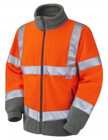Leo HARTLAND - ISO 20471 Class 3 Fleece Jacket F01-O High Visibility