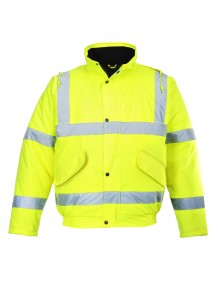 Portwest Yellow Breathable Hi-Viz Bomber Jacket S463 High Visibility