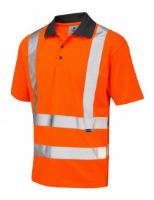 Leo ROCKHAM P02-O Coolviz Polo Shirt Orange    Clothing