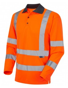Leo Woolsery P06-O Coolviz Polo Shirt Orange Clothing