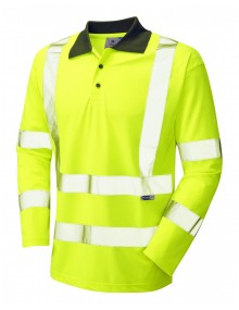 Leo Woolsery P06-Y Coolviz Polo Shirt Yellow Clothing