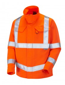 Leo DJ01-O Orange PolyCotton Driver's Jacket Clothing