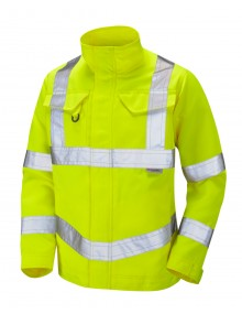 Leo DJ01-Y Yellow PolyCotton Driver's Jacket Clothing