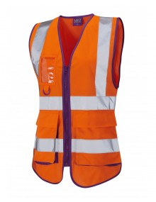 Leo Lynmouth Women's Waistcoat - Orange Clothing