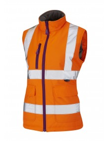 Leo Sandymere BWL01-O Ladies Bodywarmer Orange Clothing