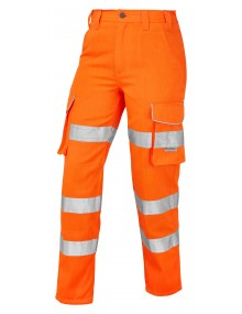Leo Pennymoor Women's Polycotton Trousers - Orange Clothing