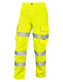 Leo Pennymoor Women's Polycotton Trousers - Yellow Clothing