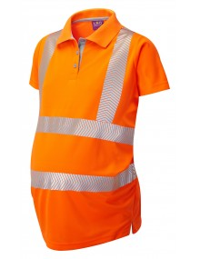 Leo PM03-O Lovacott Coolviz Ultra Ladies Maternity Polo Shirt Orange Clothing